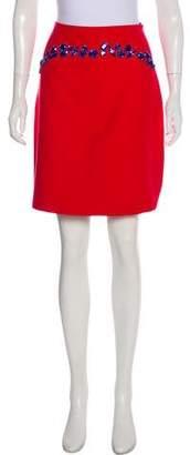 Prada Beaded Wool Skirt