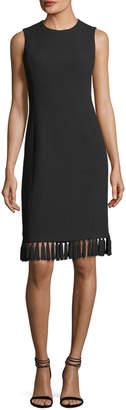 Michael Kors Tassel-Trim Sleeveless Shift Dress