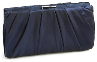 Nina 'Larry' Satin Clutch - Blue $58 thestylecure.com