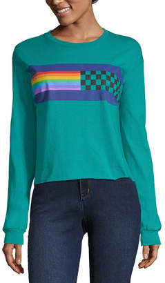 Fifth Sun Long Sleeve Round Neck Graphic T-Shirt-Juniors