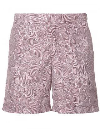 Orlebar Brown waves print swim shorts $315 thestylecure.com