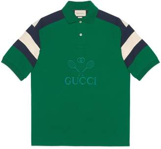 Gucci Oversize polo with Tennis