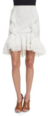 Jason Wu Ruffled Fit-&-Flare Skirt, Chalk $1,595 thestylecure.com