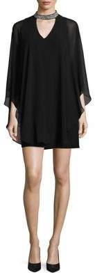 Xscape Evenings Embellished Choker Overlay Dress