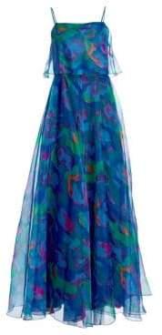 Emporio Armani Silk Organza Sleeveless Printed Dress