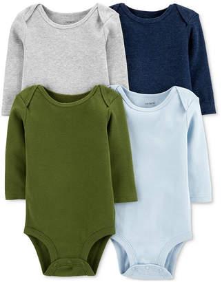 335eb46e9 Carter's Carter Baby Boys 4-Pack Long-Sleeve Bodysuits