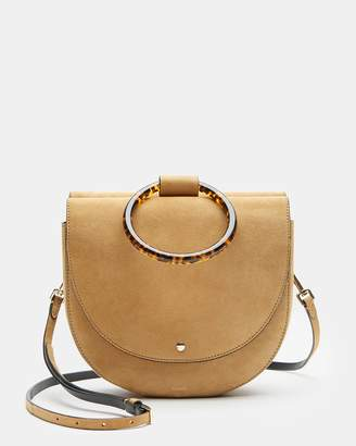 Theory Large Whitney Bag With Resin Hoop in Suede