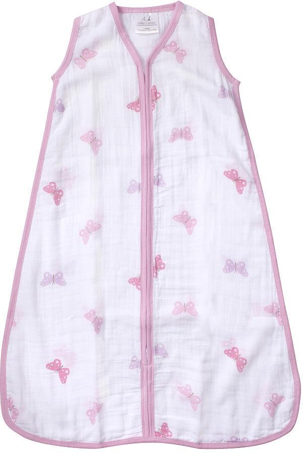 Aden Anais aden and anais aden by aden + anais - Girls n' Swirls - 100% Cotton Muslin Sleeping Bag - Large