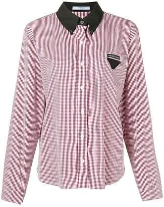 Prada contrast collar shirt