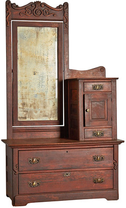 Rejuvenation Victorian Gentleman's Dresser w/ Weathered Mirror