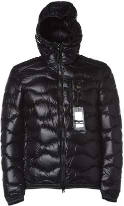 Blauer Black Wave-quilted Down Jacket