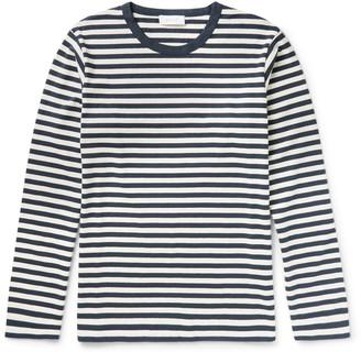 Enlist Oscar Striped Cotton-Jersey T-Shirt $105 thestylecure.com