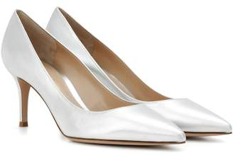Gianvito Rossi Exclusive to mytheresa.com – Gianvito 70 metallic leather pumps
