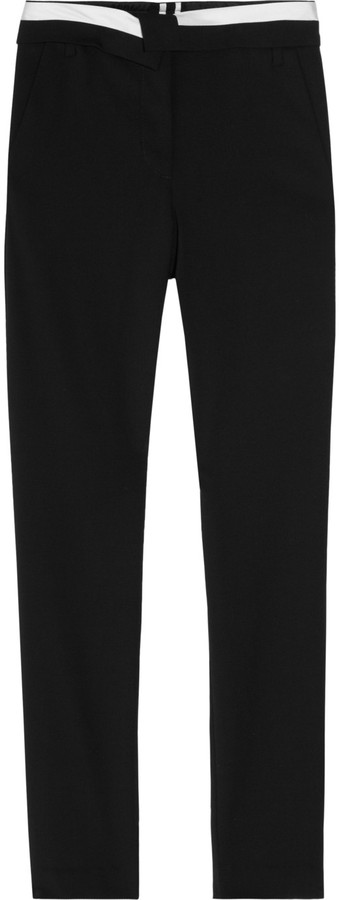 A.L.C. Jude cropped stretch-wool twill pants