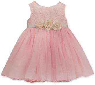 Rare Editions Floral-Embroidered Mesh Dress, Baby Girls (0-24 months) $70 thestylecure.com