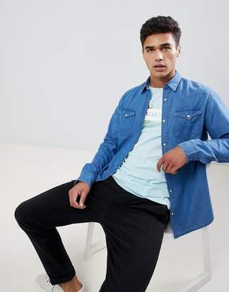 Selected Blue Denim Overshirt