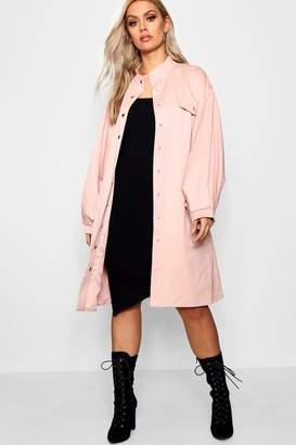 boohoo Plus Keria Oversized Sleeve Trench Coat