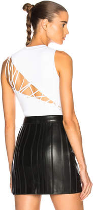 Cushnie et Ochs Angled Back Lacing Sleeveless Bodysuit