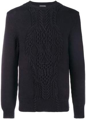 Alexander McQueen skull embroidered sweater