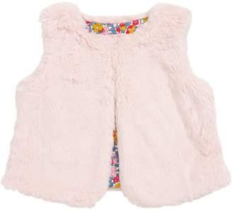 Boden Mini Party Faux Fur Vest