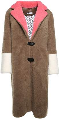 Saks Potts Febbe Colorblocked Shearling Coat