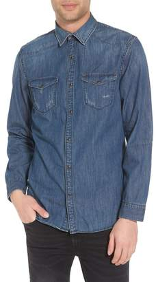 Treasure & Bond Western Denim Sport Shirt