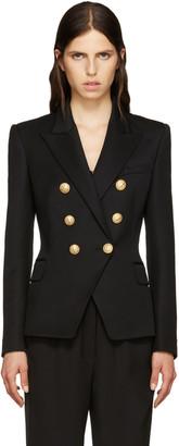 Balmain Black Wool Classic Blazer $2,430 thestylecure.com