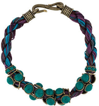 Giles & Brother Twisted Leather & Resin Necklace $125 thestylecure.com