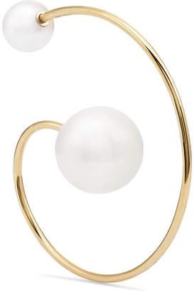 Sophie Bille Brahe Babylon 14-karat Gold Pearl Earring