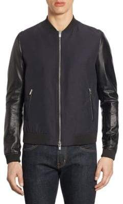 The Kooples Ribbed Bomber Jacket