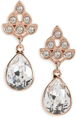 Nina Art Nouveau Double Drop Crystal Earrings