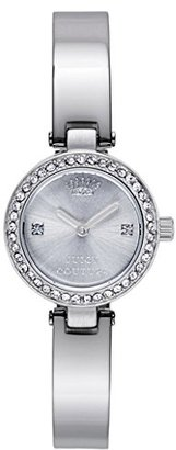 Juicy Couture Women's 1901235 Luxe Couture Silver-Tone Watch $88 thestylecure.com