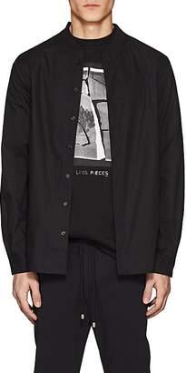 Filling Pieces Men's Baseball-Collar Cotton Poplin Shirt