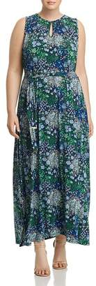 MICHAEL Michael Kors Paisley Print Belted Maxi Dress