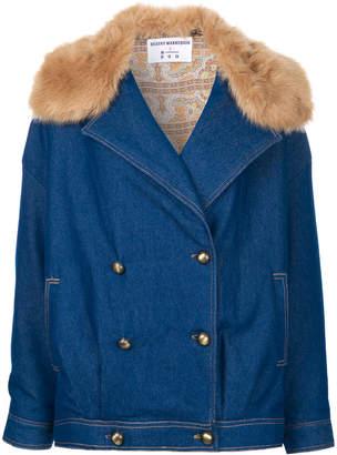 N Duo faux fur trim denim jacket