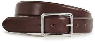 Reiss Our last order date for Christmas has now passed MORTON LEATHER BELT Dark Brown