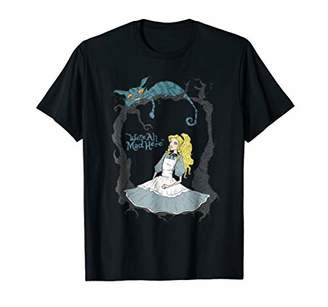 377b514ff136b Alice In Wonderland Cheshire Cat We re All Mad Here T-Shirt. Amazon.com ...
