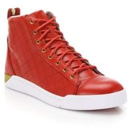 Diesel Tempus Diamond Leather High-Top Sneakers