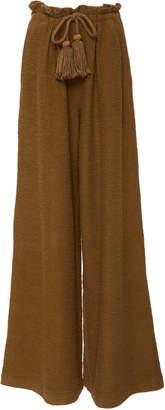 Ulla Johnson Ayana Tasseled Cotton-Gauze Wide Leg Pant