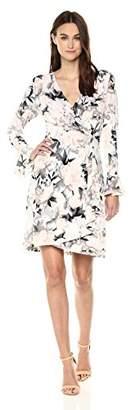 Calvin Klein Women's Printed Wrap Flare Sleeve