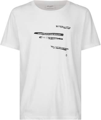 Saint Laurent Cotton Slogan T-Shirt