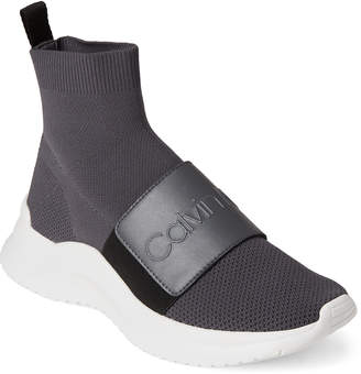 Calvin Klein Steel Grey Uni Stretch Knit Sneakers