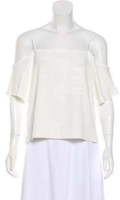 Alexander Wang Cold-Shoulder Short Sleeve Top w/ Tags