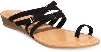 Bar Iii Vanita Toe-Ring Wedge Sandals, Only at Macy's Women's Shoes $59.50 thestylecure.com