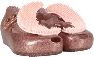 Melissa Pink Girl Ballerina Flats With Moon And Star