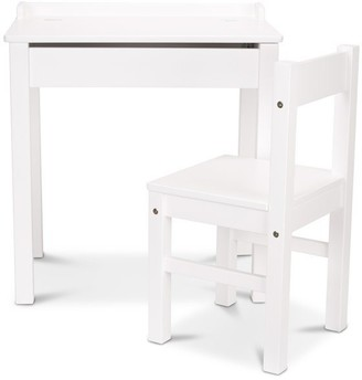 Melissa & Doug Wooden Lift-Top Desk and Chair White
