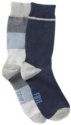 Frye Tonal Stripe Crew Socks - Pack of 2