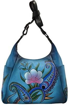 Anuschka Anna By Women'sGenuineLeather Large Hobo Bag Multi-Pockets