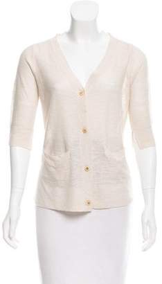 Ulla Johnson Linen-Blend Lace-Accented Cardigan