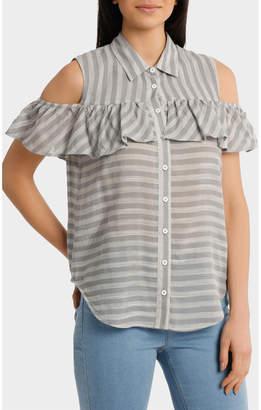 Shirt with cold shoulder